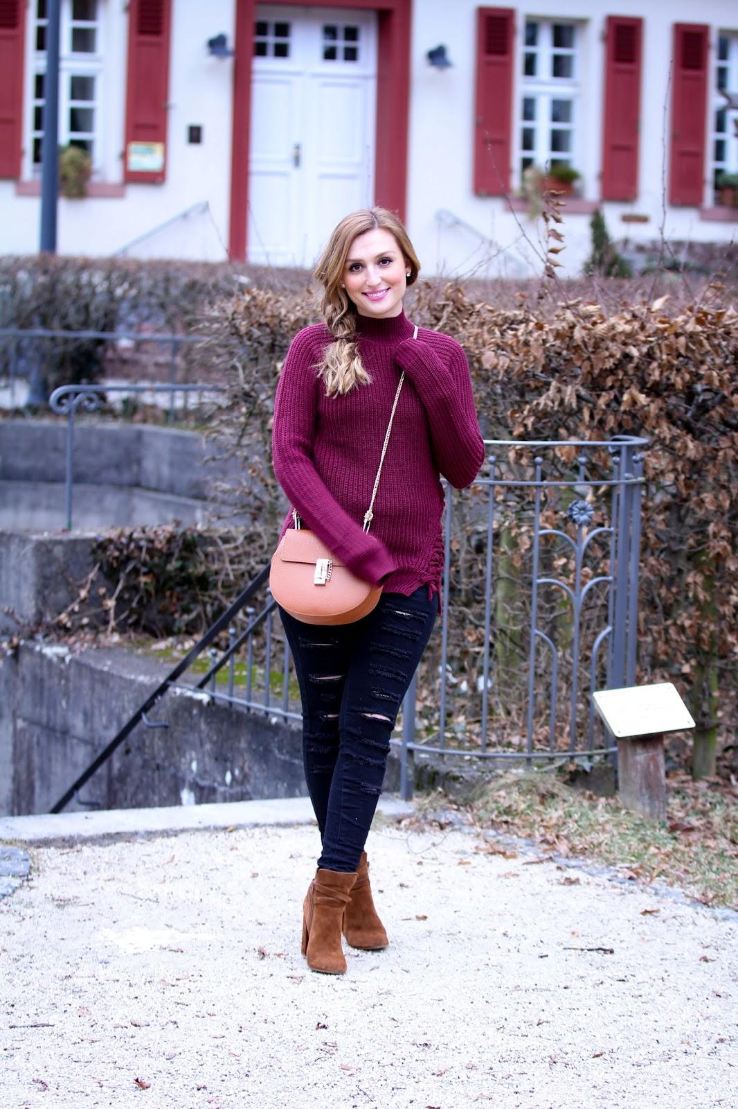 Strickpullover-bordeaux-Geflochtener_pullover-Schwarze-Hose-Bloggerstyle-bloffer-aus-deutschland-fashionblogger-Deutsche-fashionblogger
