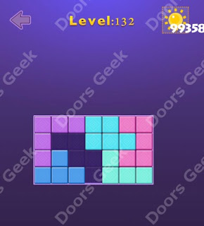 Cheats, Solutions, Walkthrough for Move Blocks Easy Level 132