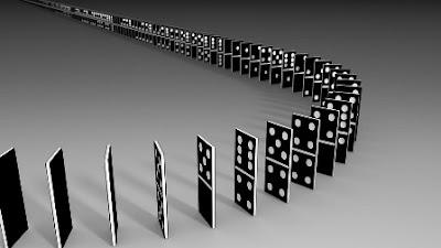Cara menulis Pada konstruksi Domino Kiu Kiu