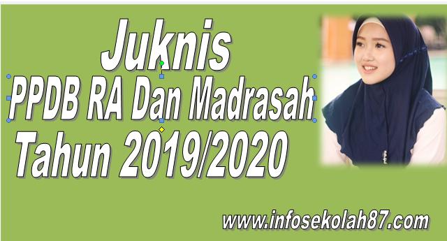 Juknis PPDB RA dan Madrasah Tahun 2019