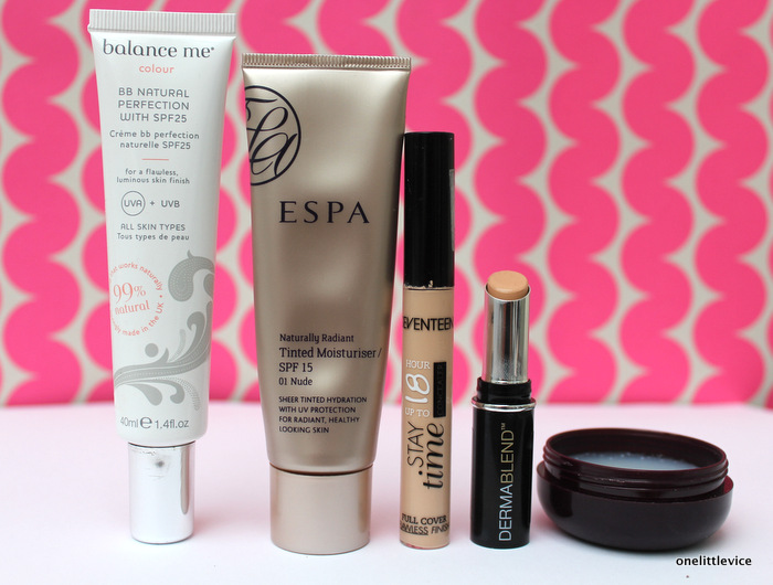 one little vice beauty blog; balance me bb cream and ESPA naturally radiant tinted moisturiser