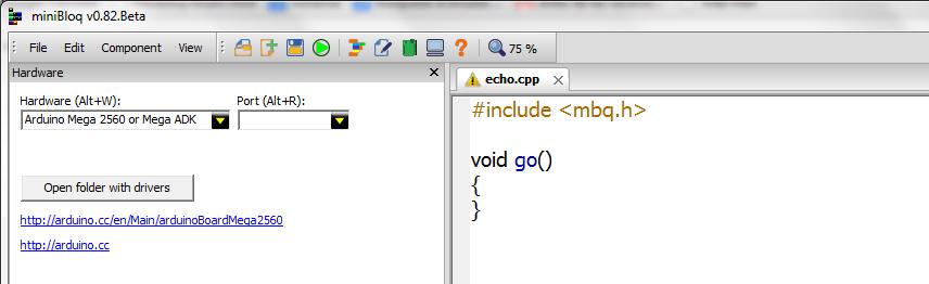 miniBloq: Using miniBloq as an IDE
