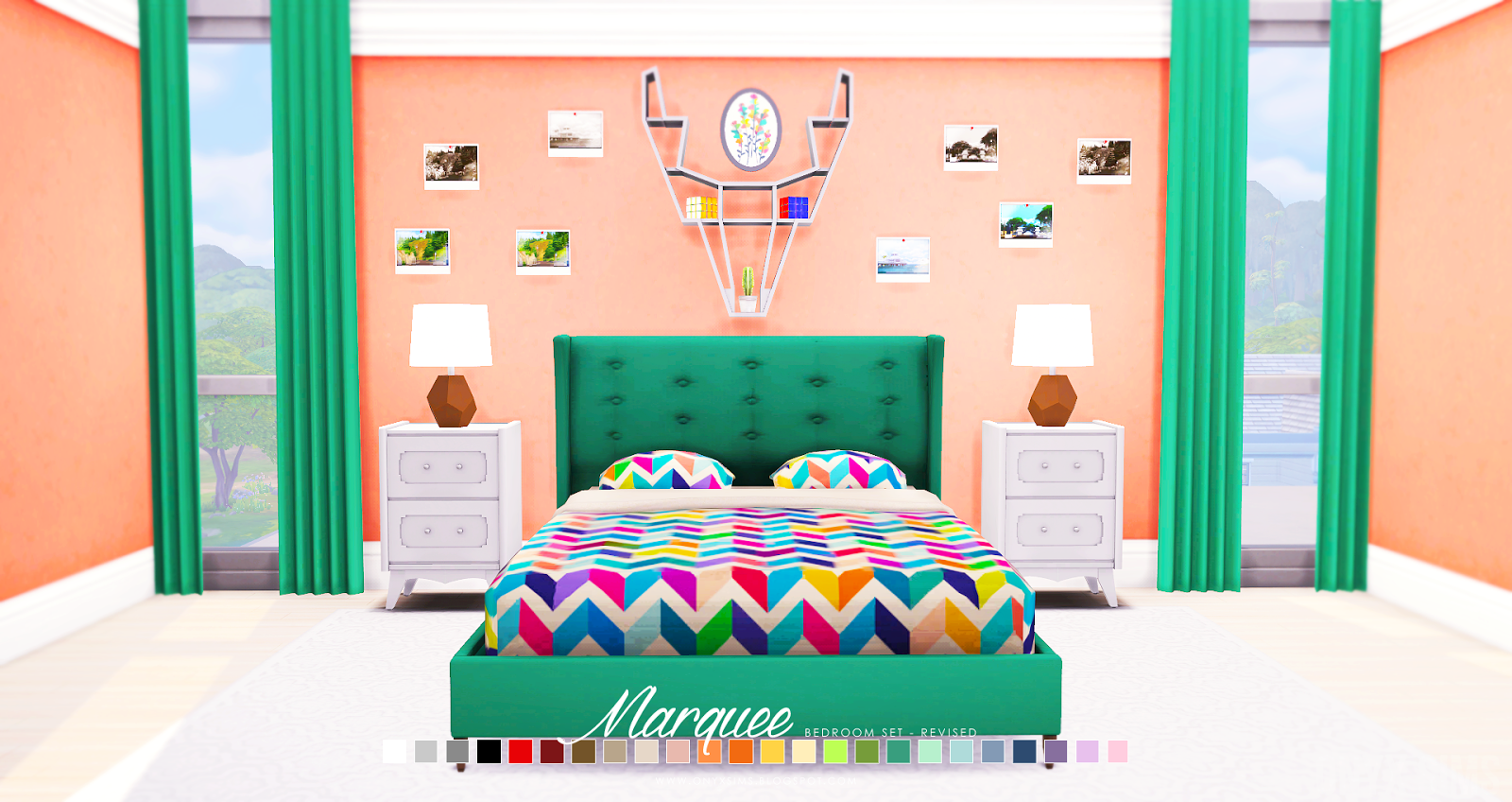 My Sims 4 Blog Updated Marquee Bedroom Set Revised By