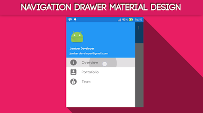 Tutorial Navigation Drawer Material Design  Android Studio