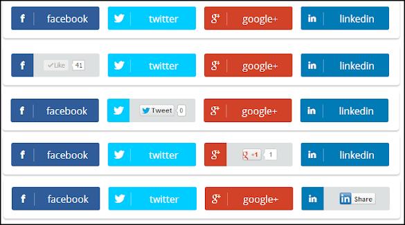 Memasang Tombol Social Share Postingan Blogger