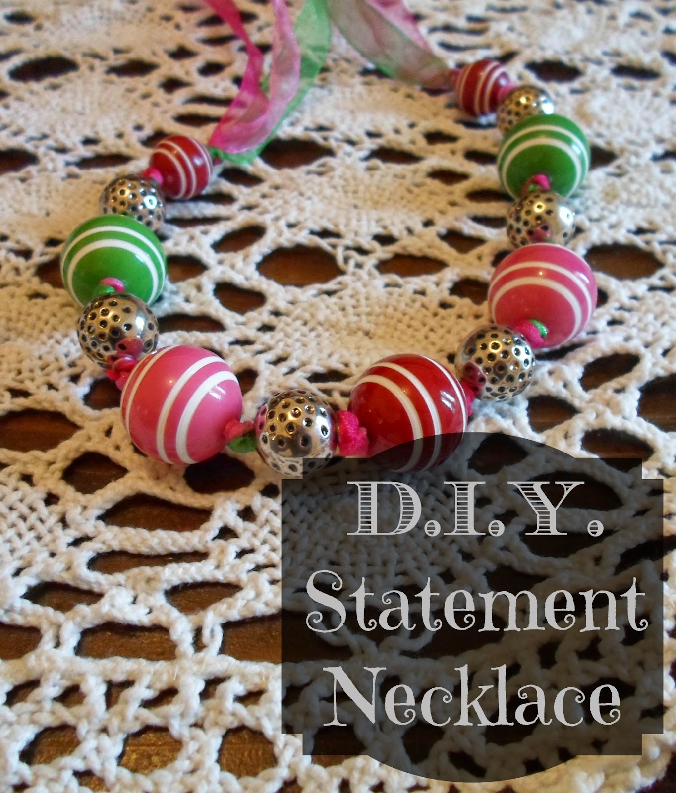 Bubblegum and Candy D.I.Y. Do it yourself statement necklace fai da te