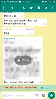 cara ketahui pesan teks di whatsapp sudah terbaca, jika centang biru dimatikan
