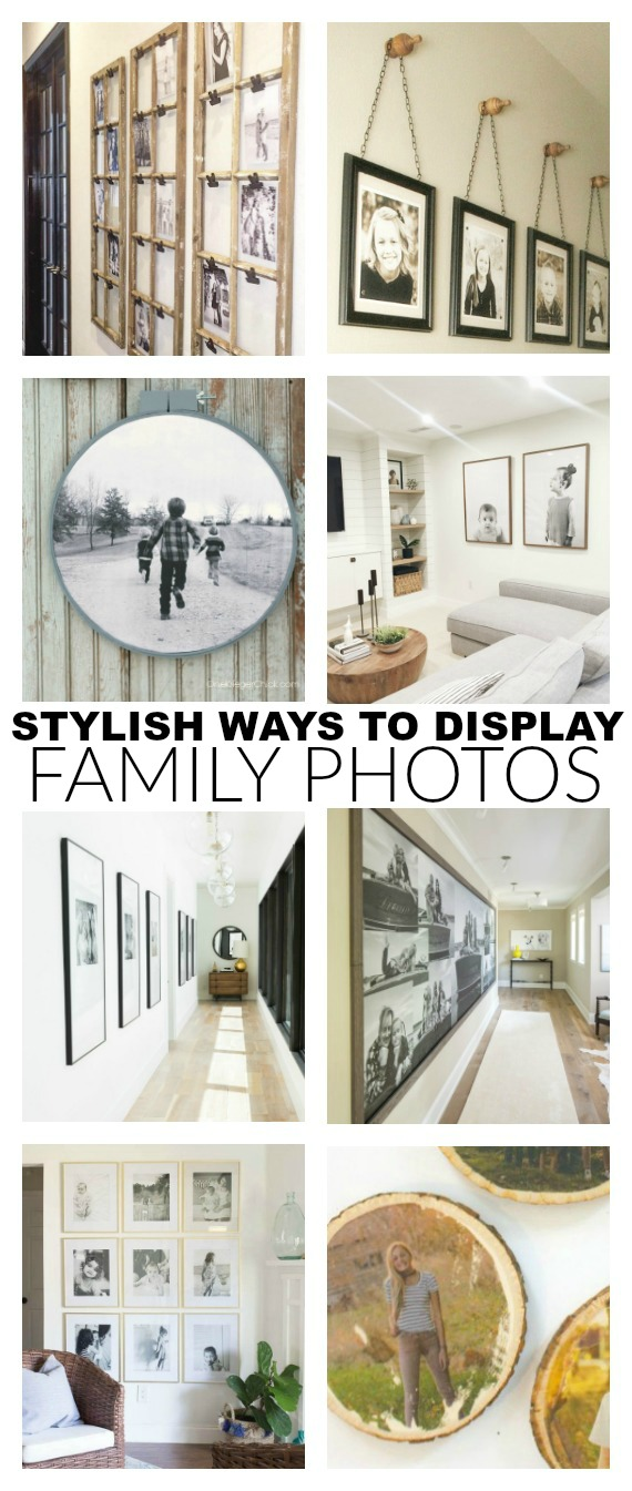 ways to display family photos