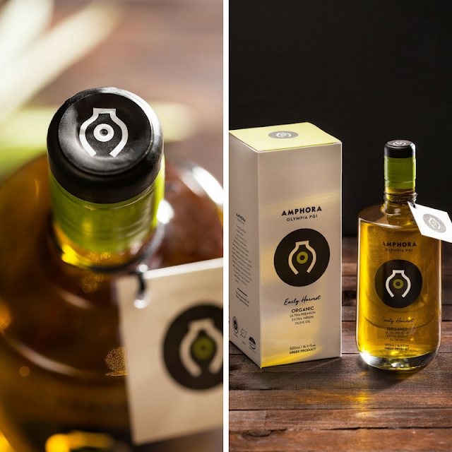 Amphora olive oil packaging • the round button blog