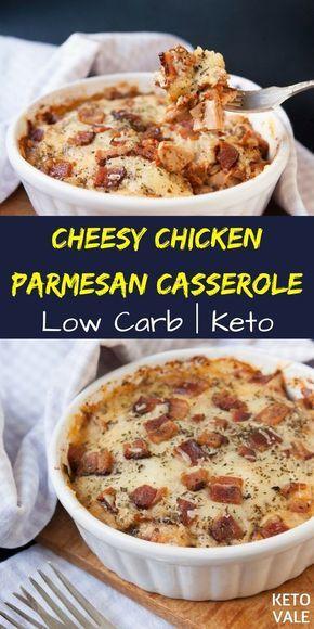 Keto Cheesy Chicken Parmesan Casserole