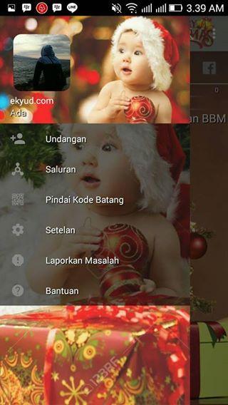 Download BBM Mod Merry Christmas Special Natal Versi 3.2.0.6 Apk Transparant Terbaru
