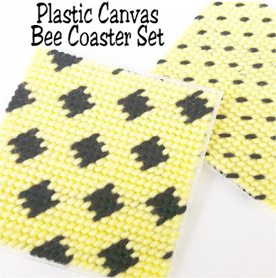 These beautiful and easy bee coasters are the perfect addition to your home or party. Each pattern has a fun two color design that can be changed to match your colors and can be sewn up with this free plastic canvas pattern quickly.