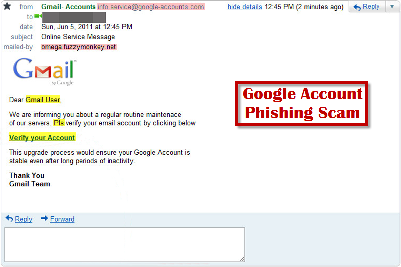 Facebook Tips: The Online Service Message Email Is A Google Account