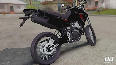 Yamaha Lander X 250 para GTA San Andreas Traseira