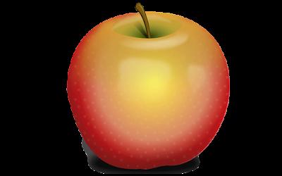 gambar clipart buah apel malang