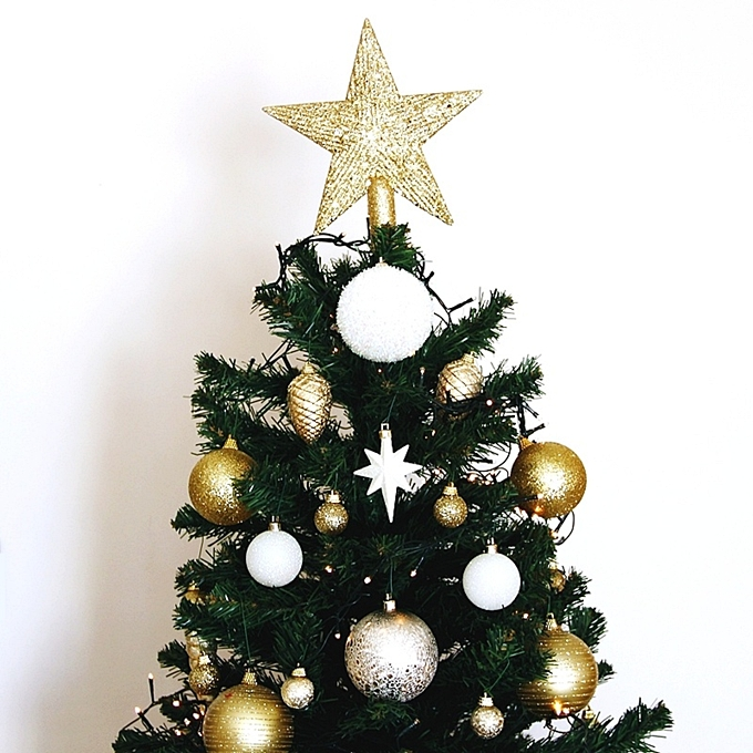 gold Christmas tree star decoration