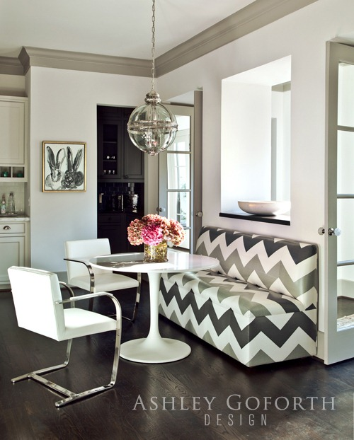 modern gray and white kitchen, gray crown molding