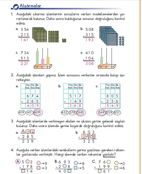 3. Sınıf Berkay Yayınları Matematik Ders Kitabı 89. Sayfa Cevapları Problem Çözelim ve Kuralım