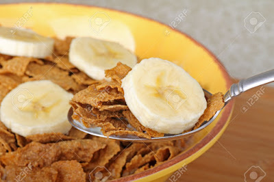 Plan no 1 Breakfast - Bran flakes with banana