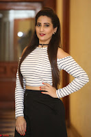 Manjusha in sleevelss crop top and black skirt at Darshakudu pre release ~  Exclusive Celebrities Galleries 097.JPG