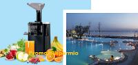 Logo Concorso Acqua di Sirmione 2018: vinci 120 estrattori di succo Imetec e 10 soggiorni a Sirmione