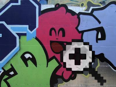 Graffiti y tecnología juegos de video clásicos.