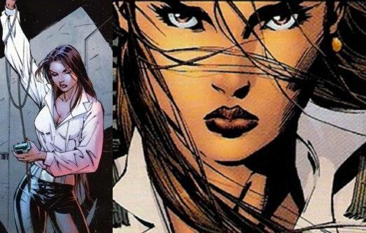 Fotograma de un cómic, en el que se ve a una chica joven con mirada fiera.