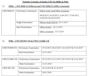 ibps-exam-calender-2017