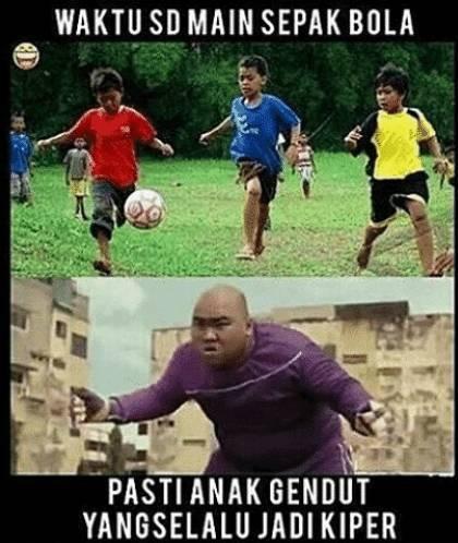 anak gendut kiper - Nostalgia Aturan Sepak Bola Masa Kecil