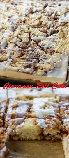 CINNAMON ROLL CAKE RECIPE - Food Delicious Recipe