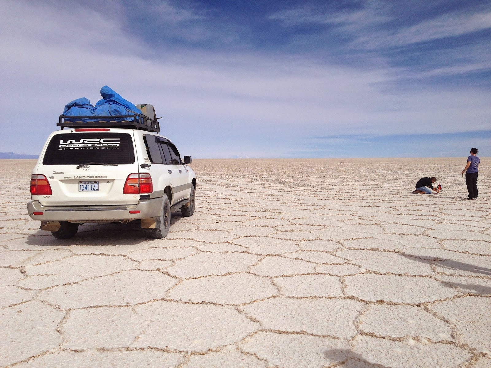 4WD Land Cruiser at Salar de Uyuni, Bolivia