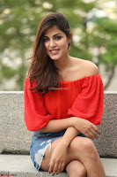 Rhea Chakraborty in Red Crop Top and Denim Shorts Spicy Pics ~  Exclusive 021.JPG
