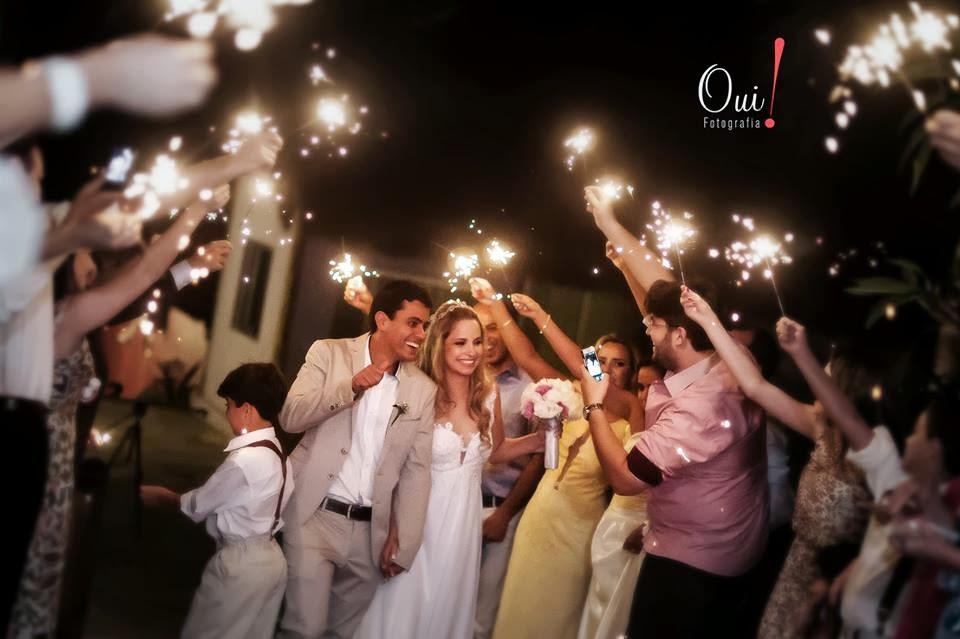 saída noivos sparkles