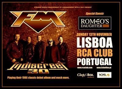 FM - Indiscreet 30 - Lisbon - Portugal - tour poster
