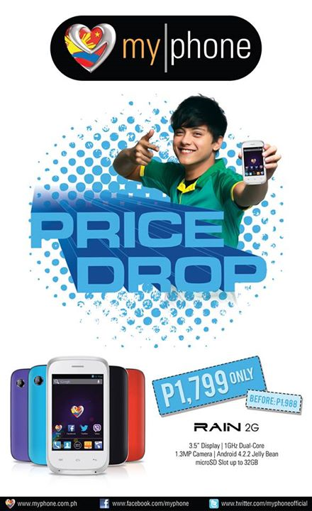 MyPhone Rain 2G Price Drop