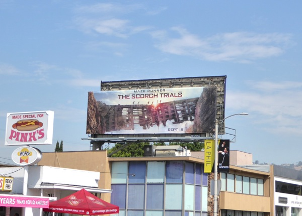 Maze Runner Scorch Trials billboard