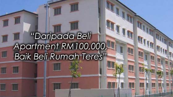 Rumah Teres RM100,000 di Kawasan Bandar