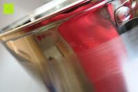 spiegelnd seitlich: Edelstahl Induktion Kochtopf 20 Liter (Suppentopf mit Glasdeckel, großer Topf, 32 x 25 cm, Dampfloch)