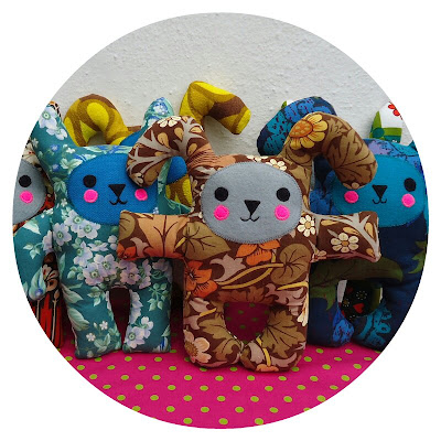 Ivy Arch vintage fabric soft toys