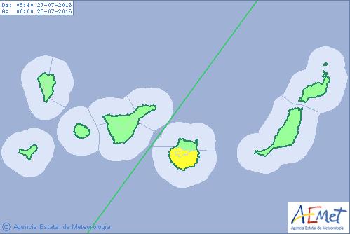 Mejora algo el tiempo en Canarias, miércoles 27 julio
