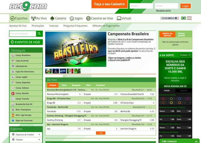 Bet9 Screen