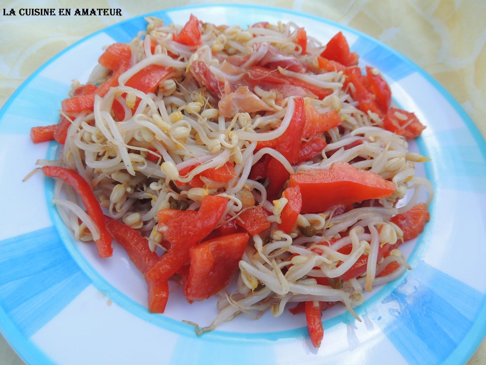 La cuisine en amateur de maryline salade de soja jambon for Cuisine incorporer
