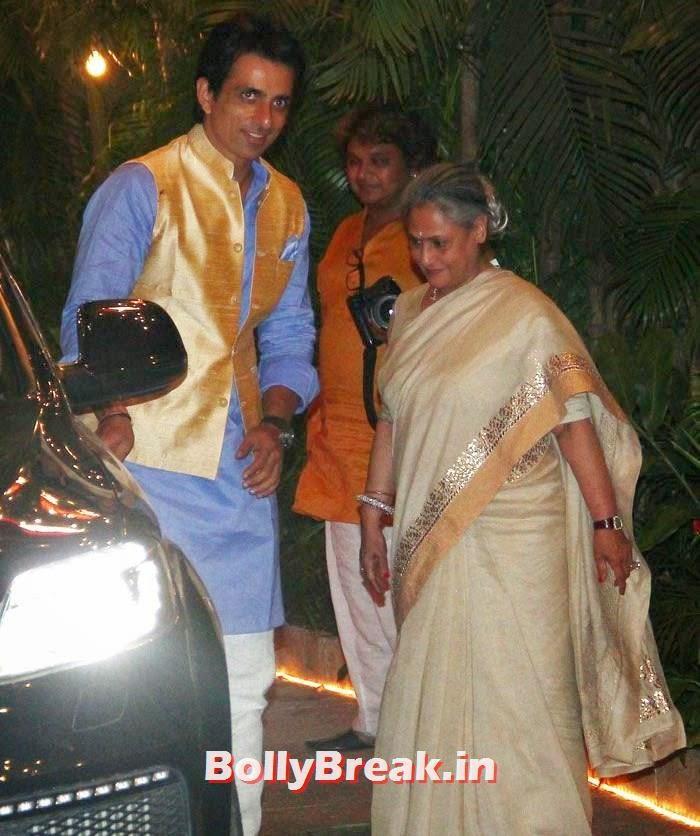 Sonu Sood, Jaya Bachchan, Photos from Amitabh Bachchan's Diwali Bash 2014
