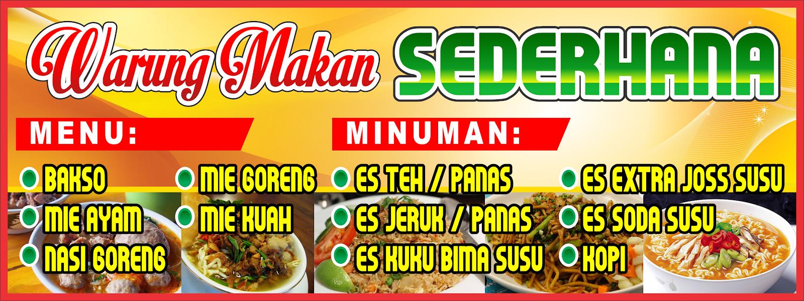 35+ Latest Contoh Banner Warung Makan Sederhana - Heart ...