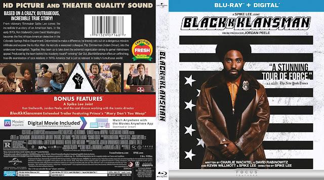 BlacKkKlansman Bluray Cover