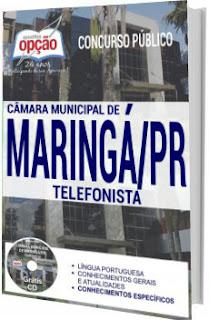 Apostila Câmara de Maringá 2017 - Telefonista