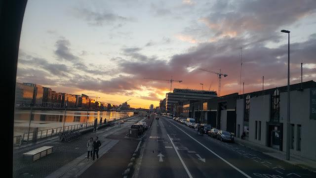 Sonnenuntergang Dublin