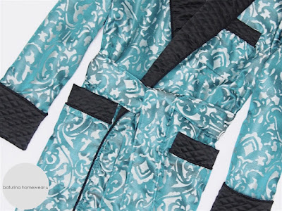 gentleman silk robe luxury quilted paisley mens dressing gown blue black smoking jacket housecoat