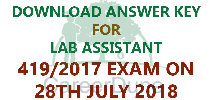 Lab Assistant Answer Key 2018