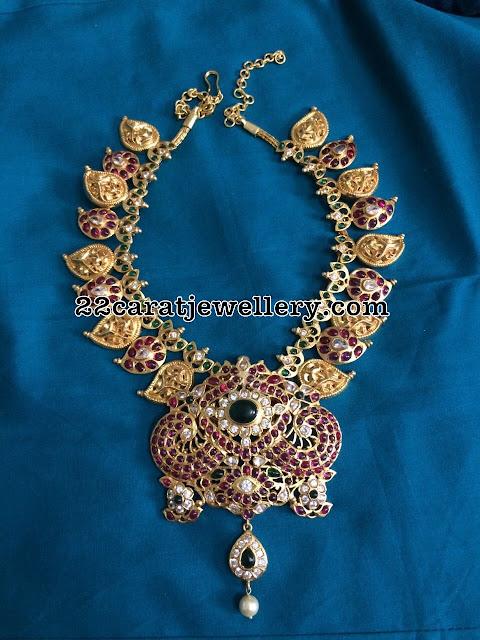 92.5 Silver Mango Necklace with Detachable Locket